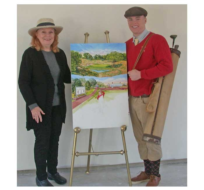 Artist Elaine Faith Thompson will soon unveil her newest painting for the 2019 PGA Championship this May. Her grandson Jamie Mas served as a model for the painting.