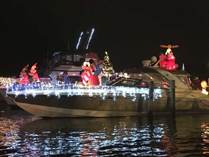 The Oakdale holiday boat parade on the Connetquot River by Snapper Inn will kick off at 4:45 p.m. on Saturday, Dec. 30.