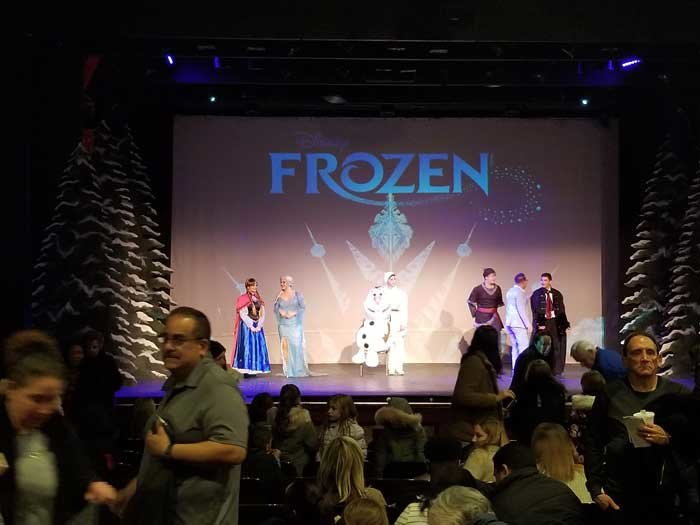 "Audience members could not wait to take photos with the cast following a wonderful performance that brought the magic of ""Frozen"" the movie to real life."