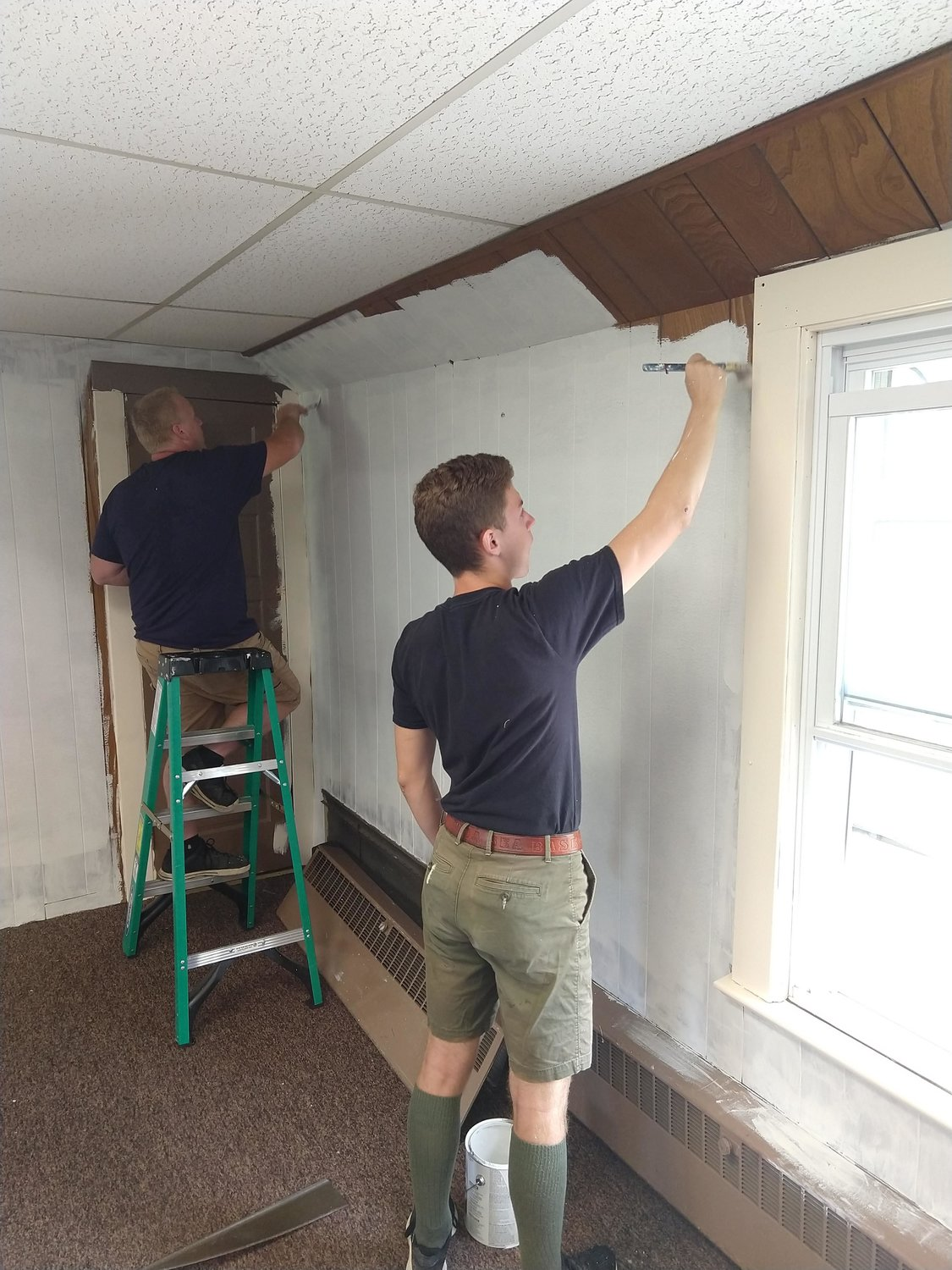 Frank and family members worked tirelessly to renovate the common room of the Bayport Methodist Church as his Eagle Scout project.