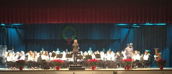 Center Moriches Middle School Band placed first in News 12's annual Sounds of the Season competition, held last month.