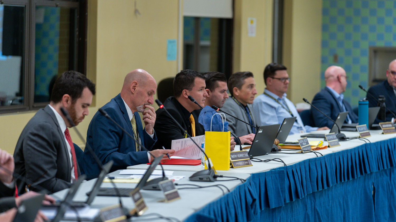 Board members were united in stalling the grade clustering reconfiguration that faced great resistance from the community in November.