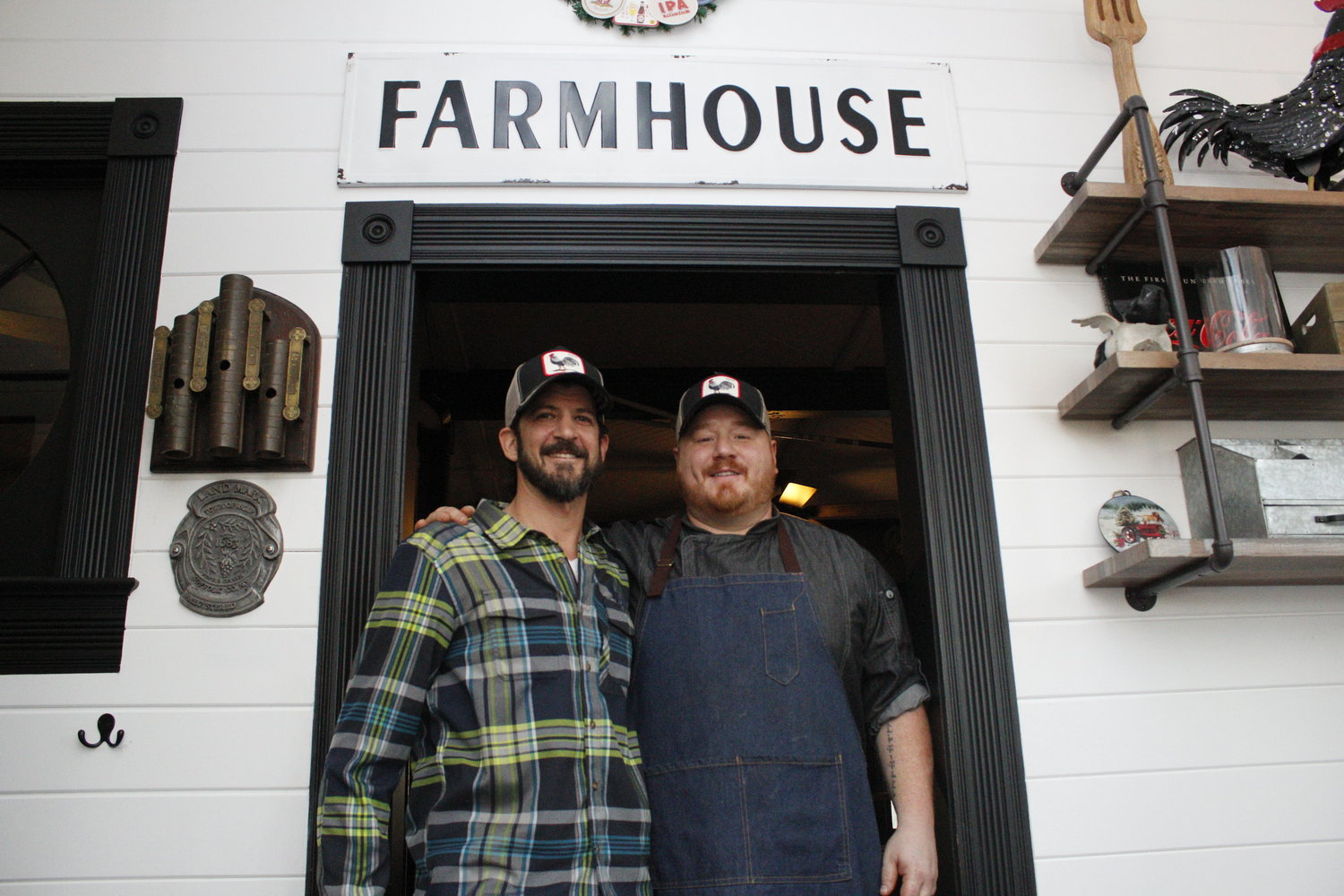 Owner Justin Tempelman (left) and chef Shane LeBlanc (right) are bringing farm-to-table foods to Bayport.