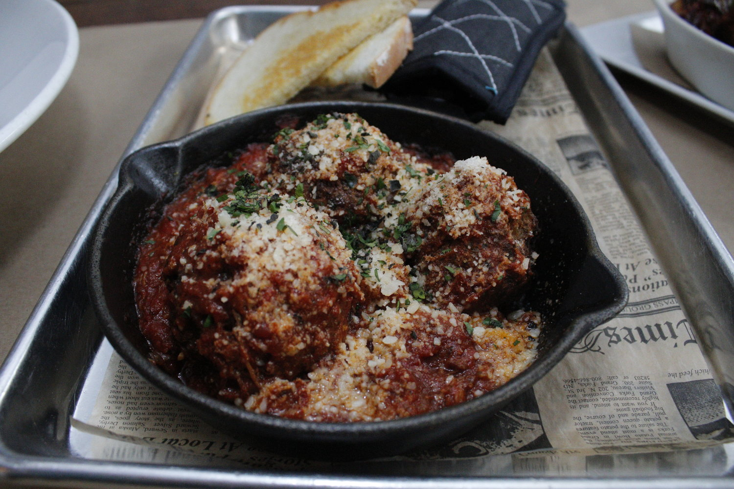"LeBlanc calls these his ""Sunday supper meatballs"" and cedes that they would go great over some pasta."