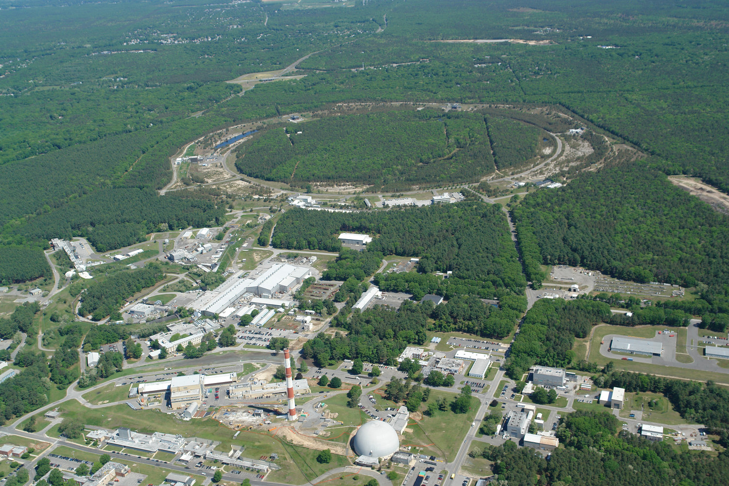 The Electron-Ion Collider will use some infrastructure from Brookhaven Lab's existing Relativistic Heavy Ion Collider.