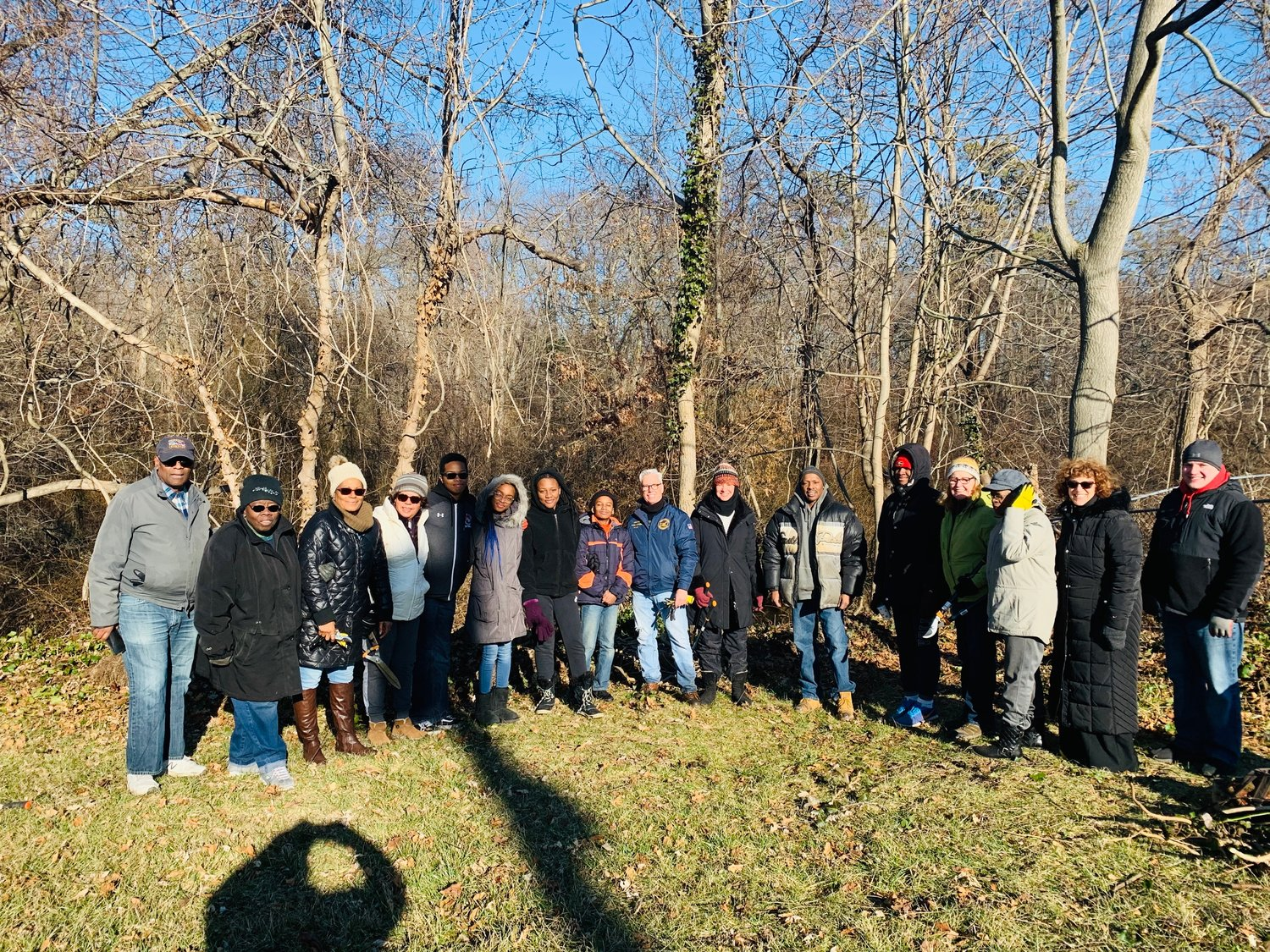 Various Bay Shore groups and organizations came together on Martin Luther King Day of Service to clean up Penataquit Creek.