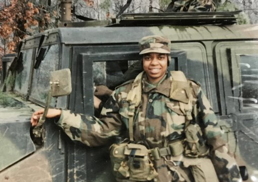 Jackie Gordon is the Democrat candidate for Congressman Peter King's seat. She served 29 years in the U.S. Army Reserve. Courtesy photo.