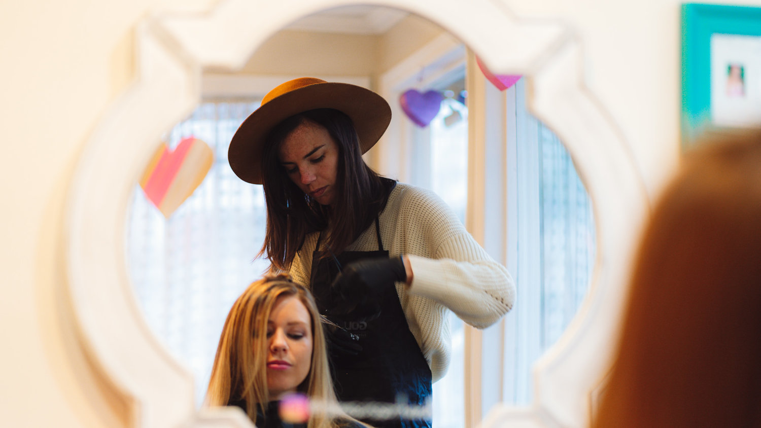 Stylists are also teachers at Parlour Hair Boutique, where they fortify their clients' signature coifs with a dedicated how-to for home care.