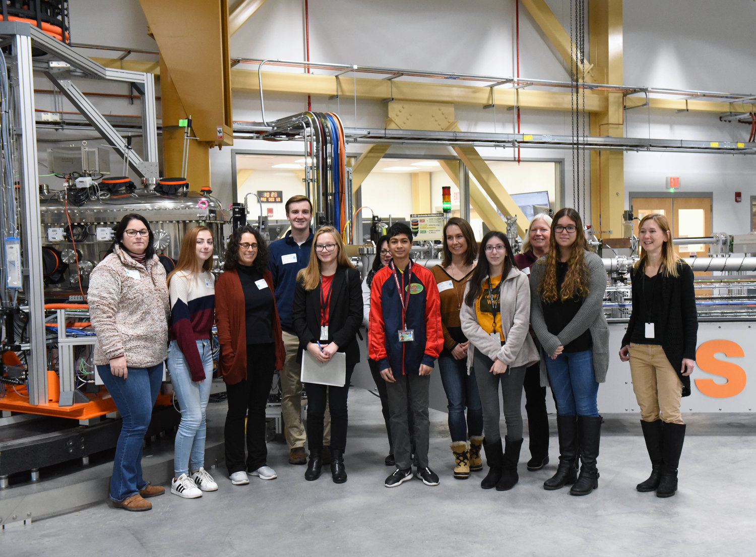 Students and librarians in groups of 12 each toured a different part of NSLS-II.