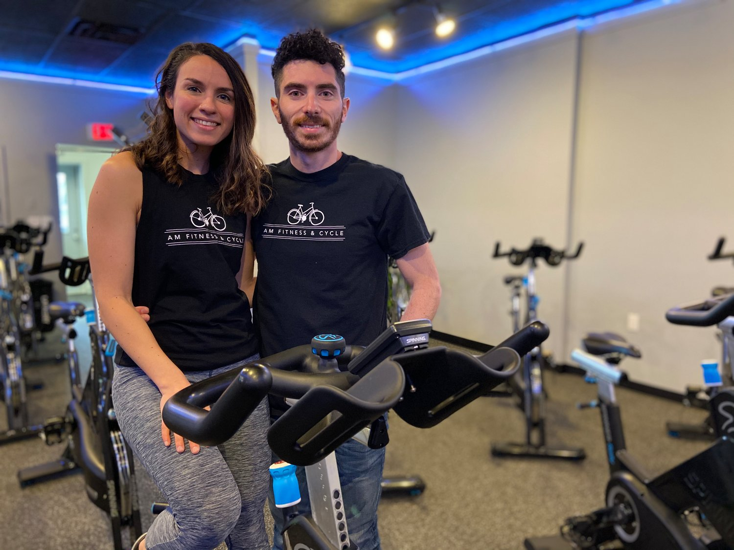"""Cycling is one of my favorite types of cardio,"" Amanda Mercurio said. She and her husband, Michael, recently opened AM Fitness & Cycle in Center Moriches."
