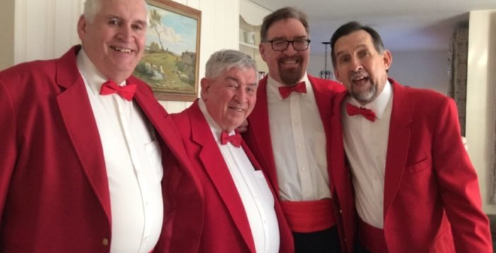 The Harbormen Chorus will send one of its quartets for a special Valentine's greeting.