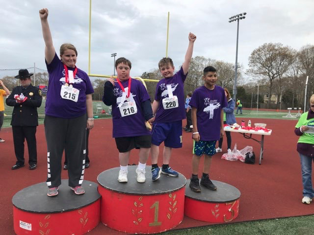Special Olympics Long Island is the largest chapter in North America and the sixth largest worldwide, representing more than 67,000 athletes across the state. Pictured are student-athletes from Islip schools at the 2017 event.