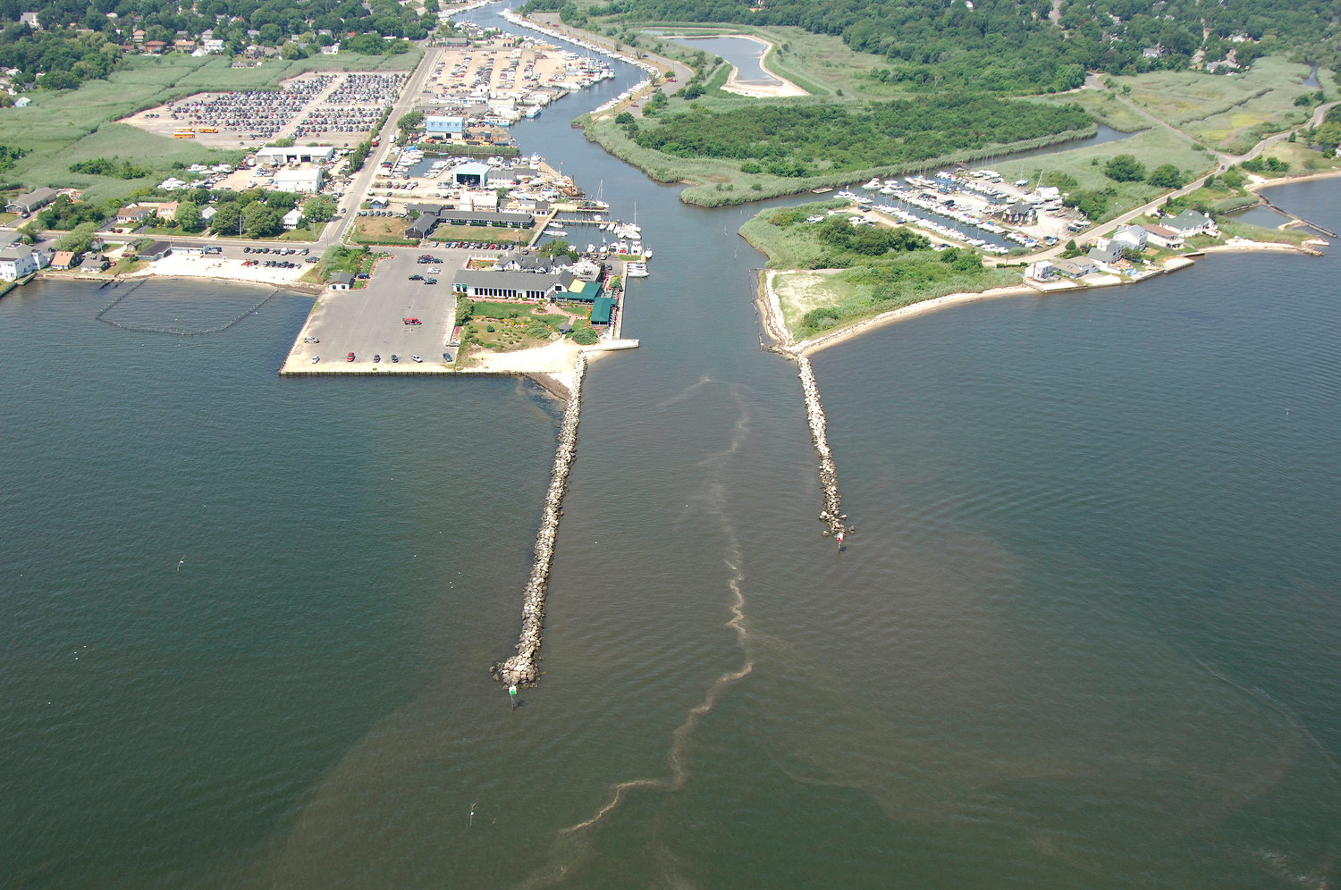 Browns River Marinas West and East will be dredged. The estuary opening to the Great South Bay has not been dredged in over 12 years.
