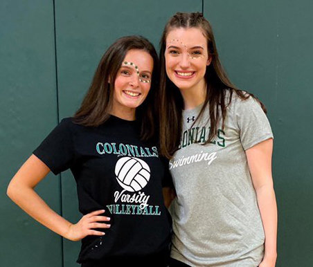 William Floyd student council seniors Makaylei Thrane and Maille Bowerman helped create an Instagram to display the graduating Class of 2020. Thrane and Bowerman are pictured at the pep rally held earlier this year.