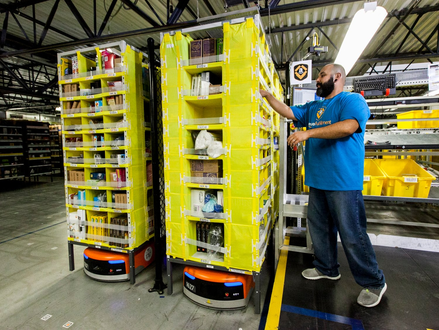 Amazon's move into Shirley will create warehouse and delivery jobs.