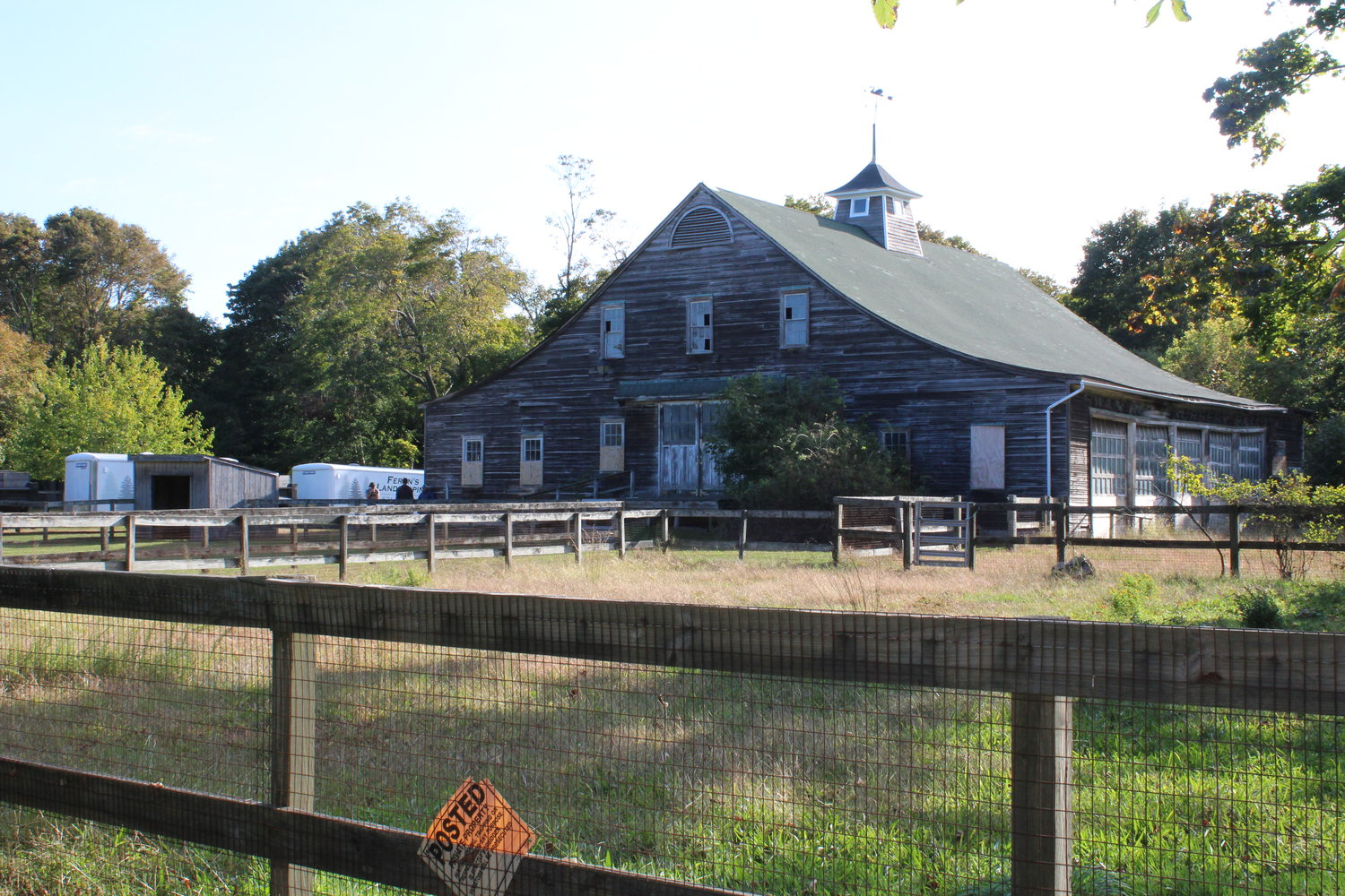The Avery Homestead barn in East Patchogue is the centerpiece of the East Patchogue property.