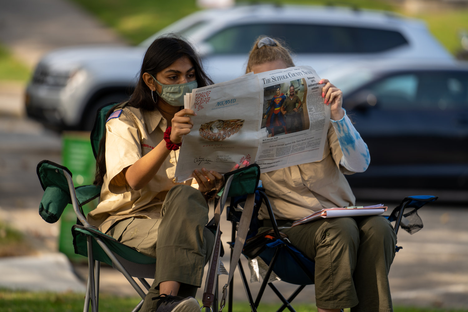 Scouts were assigned to read a human-interest profile published in The Suffolk County News the previous week to determine what types of questions had to be asked to come up with the final article.