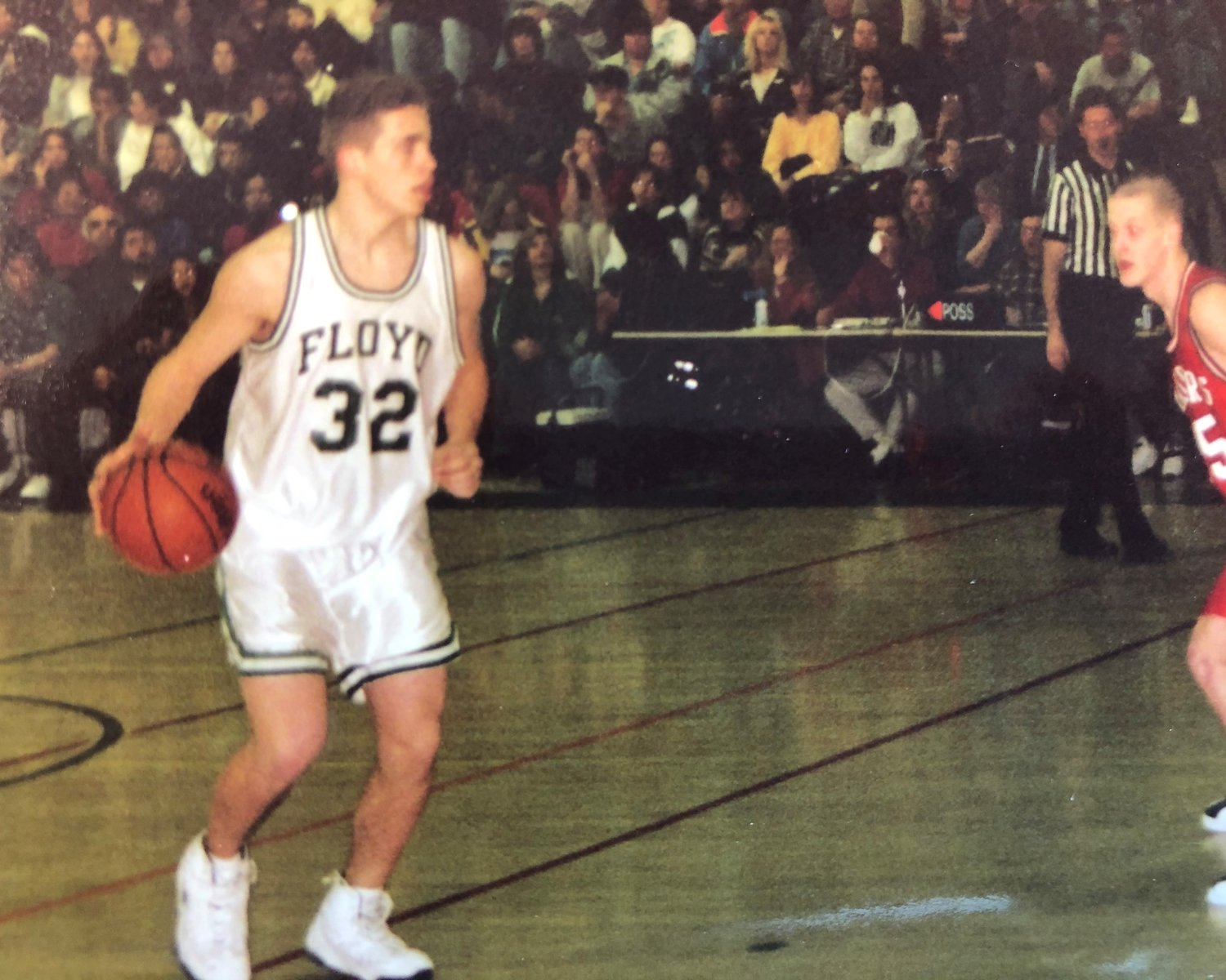 Brian Babst was a three-sport all-county athlete while attending high school in the district. He was the captain of all three sports, including the basketball team.