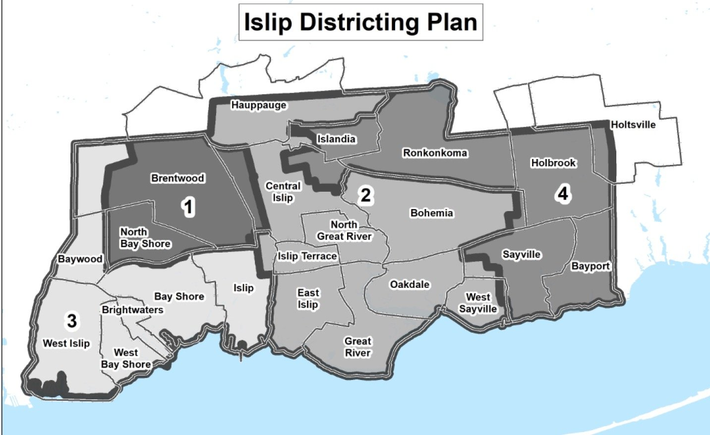 The current district map.