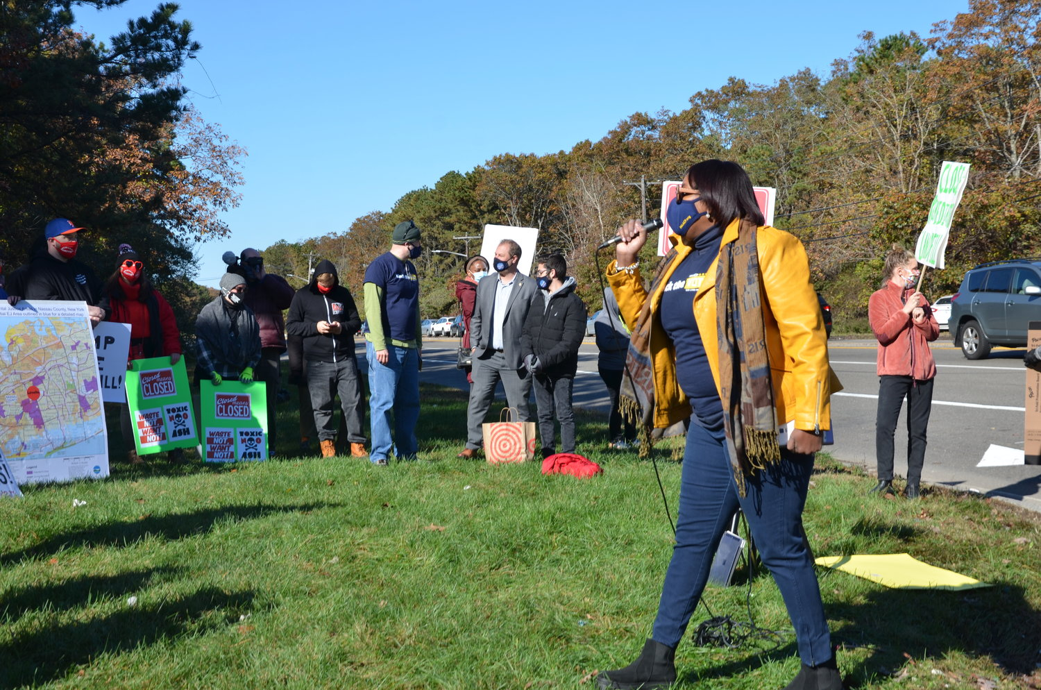 Dr. Georgette Grier-Key, president of the Brookhaven NAACP and Bellport resident, spoke at the event and discussed racial justice.