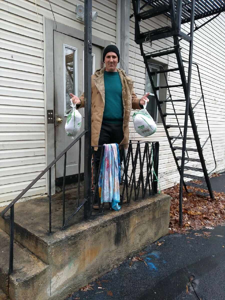 PJ Balzer of King Kids Christian Outreach hand delivered 100 turkeys ahead of the holiday.