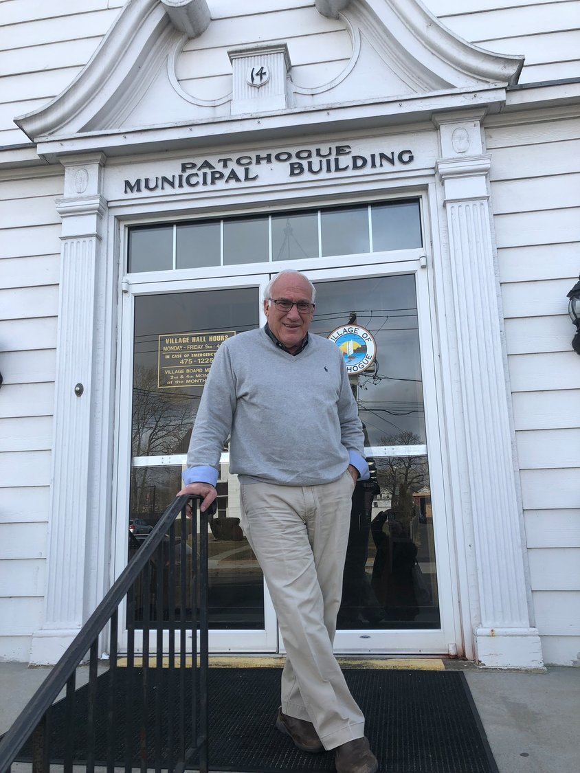 Mayor Paul Pontieri stands at Village Hall looking forward to a new year and eager to leave 2020 behind.