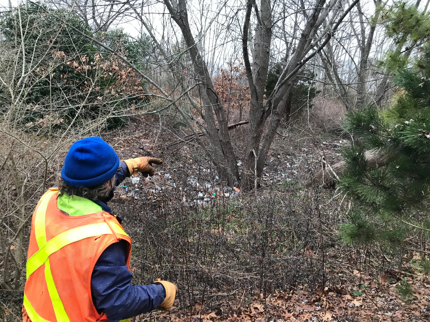 Longtime Keep Islip Clean volunteer William Raftery, of East Islip, said he discovered the litter accumulation roughly two years ago. He estimates there's over 10 years' worth of litter in the area.