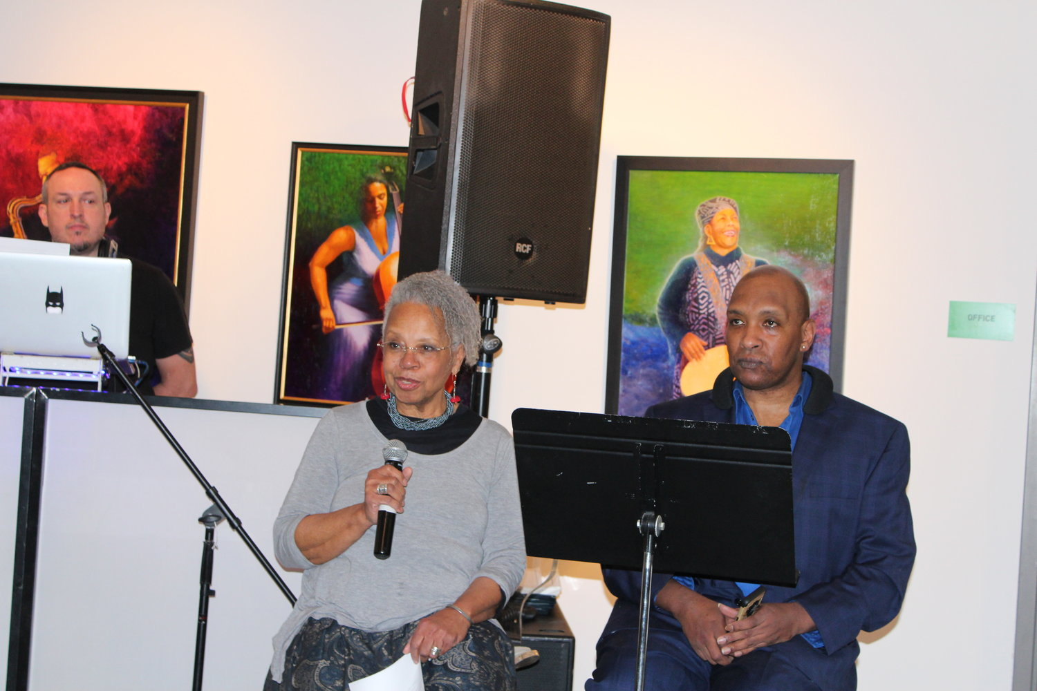 """Tracy Todd Hunter with broadcast journalist and co-host Melba Tolliver at the """"Of Colors"""" celebration last year."""