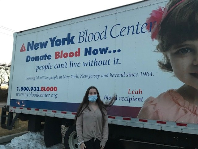 Center Moriches junior Victoria Miethe hosted a community blood drive, collecting over 54 pints of blood. Her next drive is scheduled on April 30 from noon to 6 p.m. at the Moriches Community Center.
