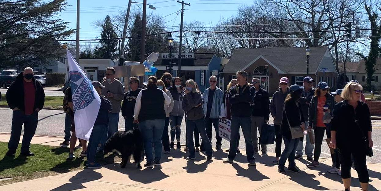 Boaters of the 1,300-member Atlantique Boat Owners Association group hosted a protest at Islip Town hall on Saturday, March 27 in frustration with the management of Atlantique Marina. The group is expected to reconvene on Tuesday, April 6 at the same location.