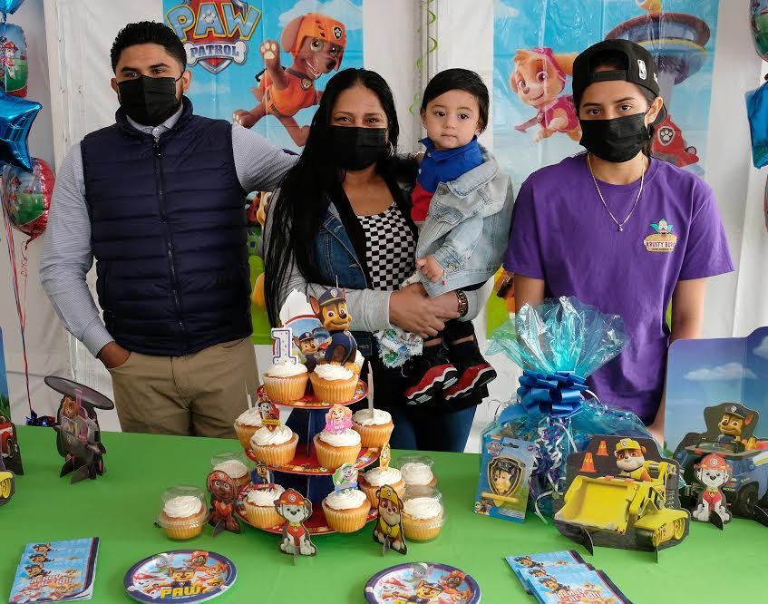 The Soriano family celebrate Walter's first birthday at South Shore University Hospital on April 2.