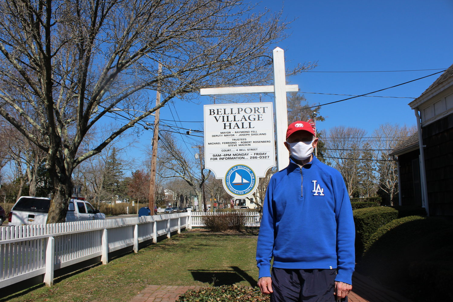 Bellport mayor Ray Fell said installing electric car chargers may be in the village's future.
