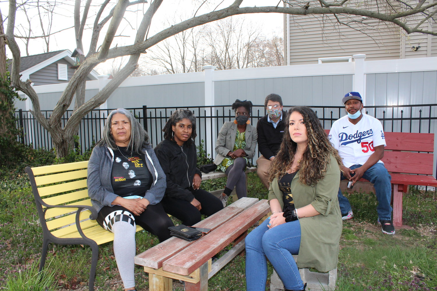 Founders of the Brookhaven Town Landfill Action & Remediation Group want a landfill cleanup and zero-waste plan. They are (left to right) Hannah Thomas, Monique Fitzgerald, Abena Asare, Kerim Odekon, Michele Mendez and Dennis Nix.