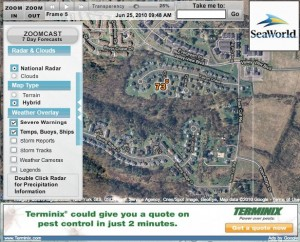 A less expensive option is ZoomRadar. See the weather on your cul de sac!