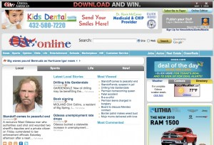 Small market savvy: Oaoa.com hosts a healthy variety of local advertisers