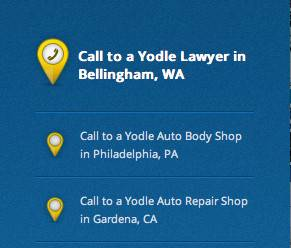 Yodle's web site shows  a scrolling list of real time phone calls to Yodle's merchant customers around the country.