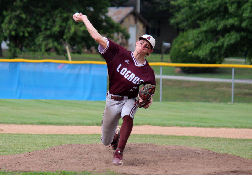 Tanner Peterson threw the second of as many strong starts against Marshfield on July 28.