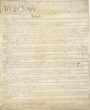 Above image of the U.S. Constitution appears on the archives.gov website.