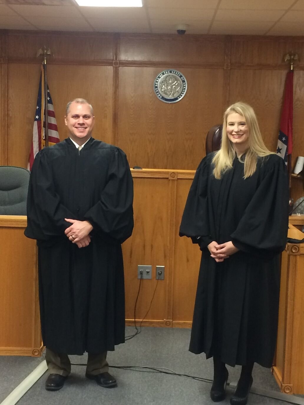 Justice Shawn Womack of the Arkansas Supreme Court presided over the swearing in ceremony of Circuit Judge Johnnie Copeland on Friday, January 1, 2021.  Judge Copeland succeeds Judge Gordon Webb who retired