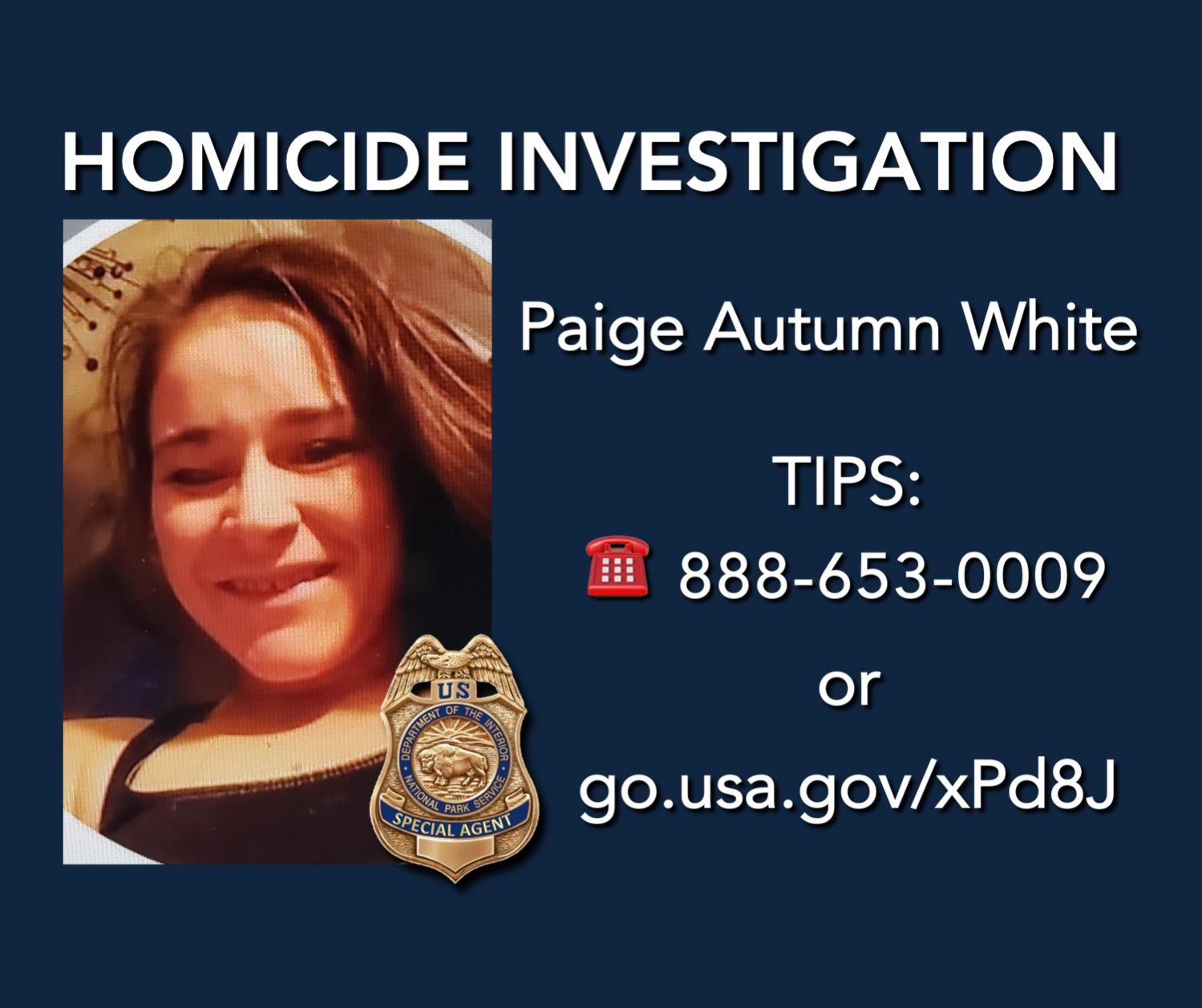 Paige Autumn White was the victim of a homicide whose remains were found in Hot Springs National Park