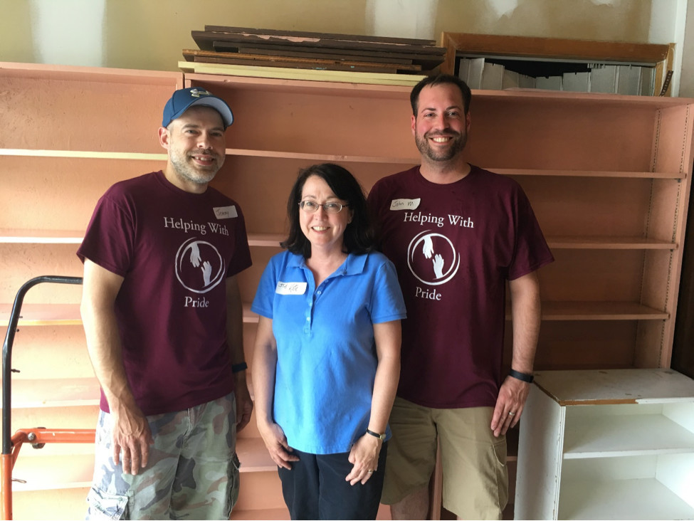 CAP - Helping with Pride volunteers assists Dillsburg Library move to their new location at 204 Mumper Lane, Dillsburg.