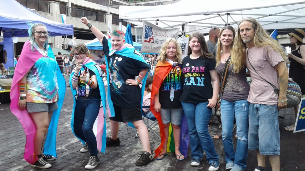Lancaster Pride, June 25, drew a record breaking crowd from all around the region. The event was held at Binns Park.  It is a project of the LGBT Center.