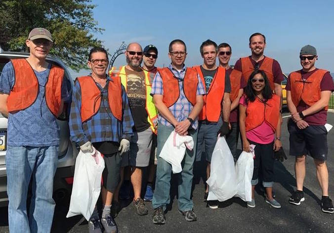 Helping with Pride volunteers cleaned a section of highway along Lisburn Road Sept. 16 The newly-formed community service organization brings together members of the LGBT community to do hands-on volunteer service projects in the greater Harrisburg area.
