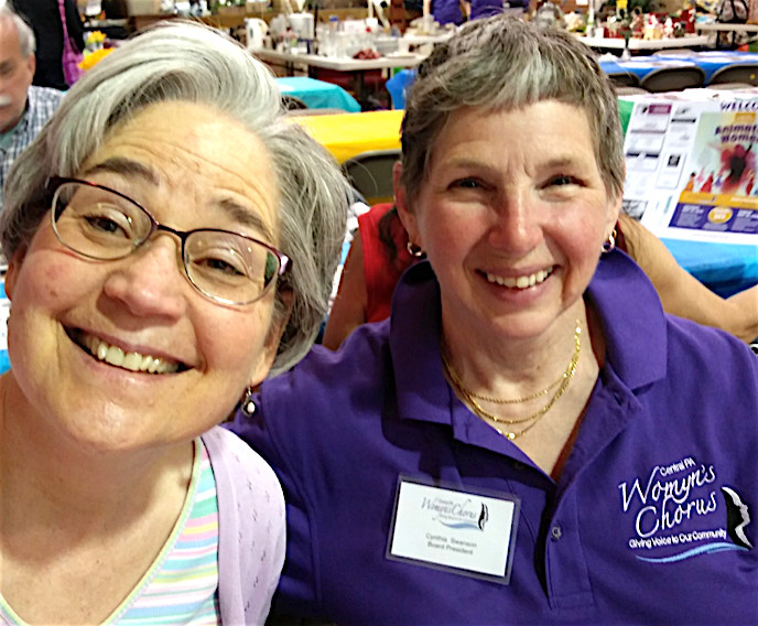 Central PA Womyn's Chorus held their annual pancake breakfast and rummage sale May 12. The popular event drew about 100 people.