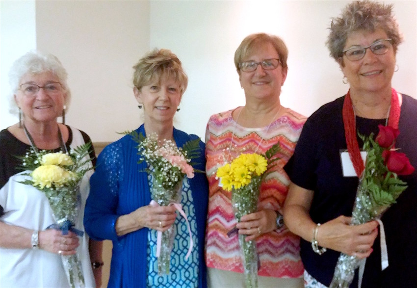 Pictured are the new officers for the Lenker Manor - Paxtang Womens Club,  from left: Bonnie Snodgrass, treasurer; Annie Verobish, secretary; Nancy Lengler, vice-president; and Jane Rising, president.