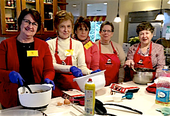 On Apr. 7 a few members baked brownies for the guests at the Ronald McDonald House of Hershey.