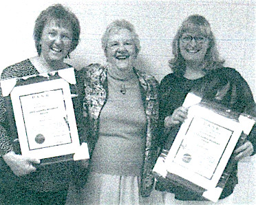 Two Central Dauphin School District employees were recently honored by the Dauphin County Chapter of the Pennsylvania Association of School Retirees (PASR). Pictured from left are Sharon Steiner, Dorothy Fisher and Tara Mitchell. Steiner received the Outstanding Support Professional award while Mitchell was the recipient of the Outstanding Educator award. Fisher is Central Dauphin's representative on the county organization.