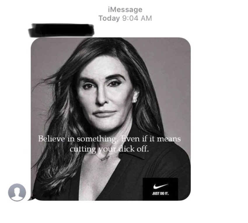 Screenshot of group text allegedly started by Zaborney on Sept. 6, 2018