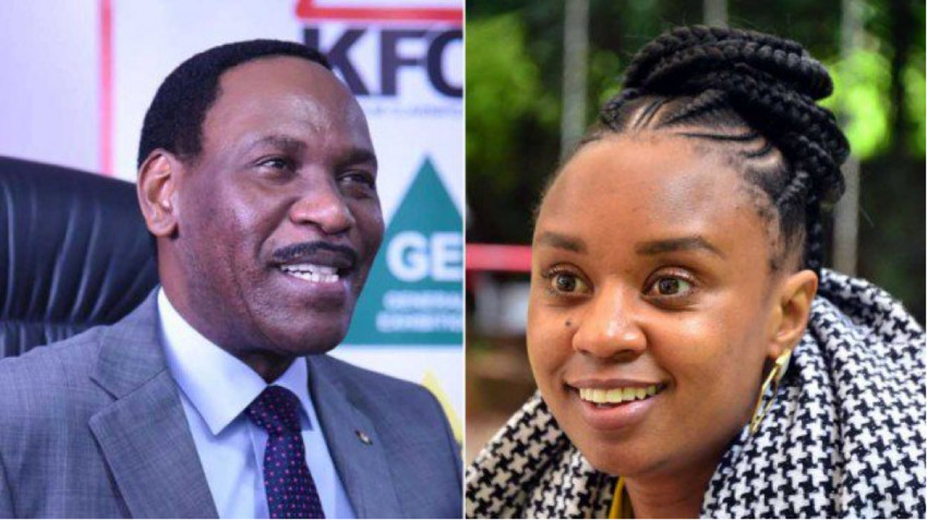 Dr Ezekiel Mutua and Wanuri Kahiu.
