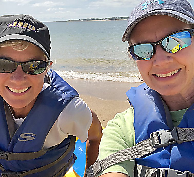 Judy Baumgardner, left, a central Pennsylvania resident, recently retired educator and administrator and her wife, Colette Eckert, kayaking in Provincetown, Massachusetts. Their vacation to a welcoming town and return home to central PA prompted unexpected emotional repercussions.